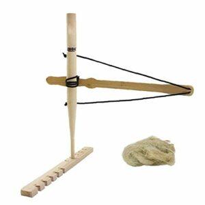 Bow Drill Kit Allume-feu primitif en bois de survie pratique friction feu outil pour l'enseignement Outward Formation Lumière jaune Montagne Camping