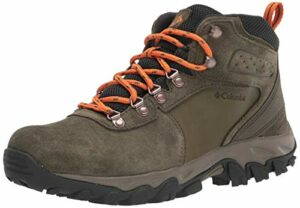 Columbia Newton Ridge Plus II Suede WP, Chaussure de randonnée Homme, Nori Light Orange, 48.5 EU