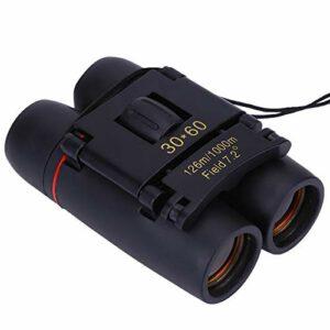 DAUERHAFT Télescope binoculaire d'escalade léger Portable HD 30X60 Télescope binoculaire extérieur 30X60 pour Observer Les Oiseaux, Les Voyages, la randonnée, Les activités Sportives
