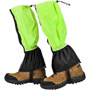 Diantai 1 Paire de guêtres d'extérieur Guêtres de Neige imperméables Guêtres de randonnée Respirantes pour la randonnée en Montagne Chasse Ski pour Hommes/Femmes