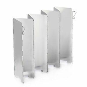 Ecent Pare-Vent Pliable en Alliage d'aluminium pour réchaud de Camping, cuisinière à gaz etc.