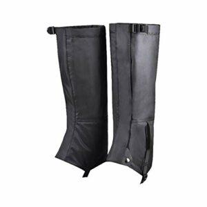 FLOX 1 paire de leggings chauffants pour homme/femme, en nylon 420D, guêtres imperméables et résistantes à la poussière, largement utilisés pour la neige, l'escalade, la pêche, la montagne