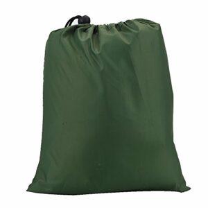 Focket Bâche de Tente, abri de Camping à l'épreuve de la Neige imperméable au Vent et portatif léger pour Le Camping/la randonnée (Vert)
