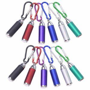 GARNECK Lot de 12 mini porte-clés en alliage pour lampe torche de camping et lampe torche