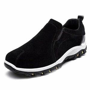JsJr-K-In 1 paire de chaussures de randonnée pour homme respirantes, antidérapantes, étanches pour escalade en plein air, randonnée, camping, pêche, plage (couleur : jaune, bleu, noir, gris)