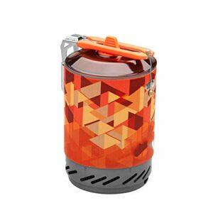 LHR Mini Réchaud à Gaz De Camping en Acier Inoxydable, Outdoor High-Efficiency Heat Collecting Pot Picnic Stainless Steel Camping One-Piece Cooker Portable Set