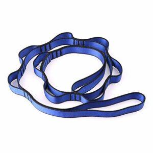 LUCHAO Corde d'escalade en nylon avec boucles pour hamac de yoga Feb13 (couleur : bleu)