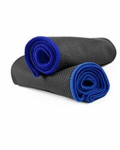 NirvanaShape ® Serviette Microfibre à Effet Refroidissant | Serviette Sport Légère Anti-Odeur | Serviette Rafraîchissante pour la Course, la Musculation, Le Yoga, la Randonnée, Le Camping
