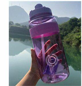 OJPOGHU Bouteille de Sport de Sport en Plein air Bouilloire Grande capacité d'escalade Portable Bouteilles d'eau de bicyclettes BPA Gym Gym Space Ticks (Color : Purple, Size : 2000 ML)