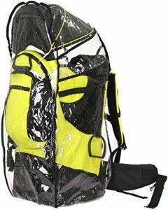 Sac à dos de transport pour enfant avec rembourrage épais, pliable, multifonctionnel, amovible, avec auvent, pour randonnée, voyage, charge maximale 25 kg, orange, jaune