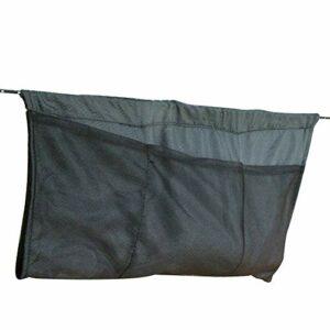 Sac de rangement pour hamac, 7 poches, pliable, portable, grand espace de rangement, léger, pour le camping, les voyages, l'escalade, les sports de plein air, noir