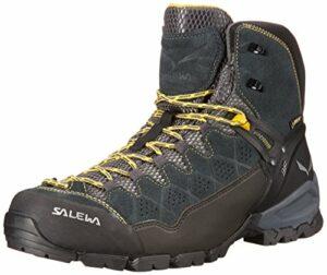 Salewa MS Mountain Trainer, Chaussures de trekking et de randonnée Homme – Gris (Carbon/Ringlo) – 44 EU