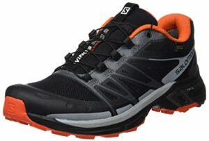 SALOMON Wings Pro 2 GTX, Chaussures d'escalade Homme, Multicolore (Black/Dark Cloud/RD), 40 2/3 EU