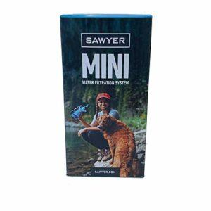 Sawyer Products – Filtre d'eau pour randonnée, accessoire camping, trekking (MINI set de 1 Bleu)