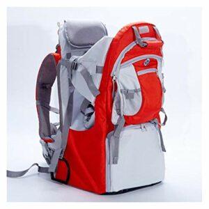 SCYMYBH Porte-Sacs à Dos bébé pour bébé pour la randonnée avec des Enfants Portent Votre Enfant Ergonomique (Color : Red)