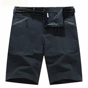 Short de randonnée à séchage Rapide pour Hommes Vêtements de Sport Respirant Trekking Camping Pêche Running Short Gray Asian Size L
