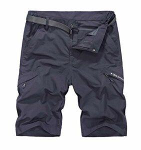 Shorts de randonnée en Plein air Hommes Camping/Escalade/Trekking Short de Voyage à séchage Rapide Gray Asian Size 3XL
