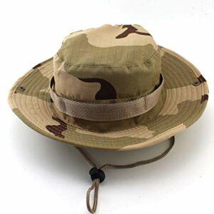 SSTSstunimango à l'extérieur Grandes Chapeaux de pêche au Bord du Soleil Protection Sun UV Protection à séchage Rapide Chapeau Bonnet Bonnet pour randonnée Camping Voyager-Desert Camouflage