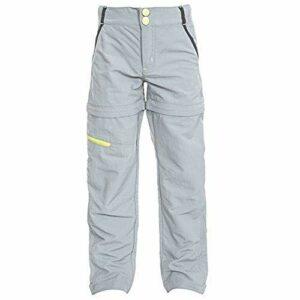 Trespass – Pantalon de randonnée Convertible Defender – Unisexe (7-8 Ans) (Gris Clair)
