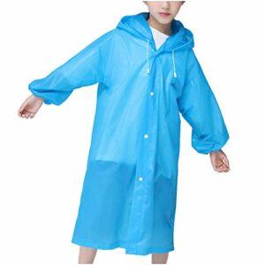 Vêtement D'imperméables Pour Enfants, Poncho Pour Enfants, Sports De Plein Air Vélo Imperméable Extérieur Respirant Poncho De Escalade En Extérieur Pantalon De Pluie Continue (bleu)