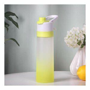 WAGA Bouteille d'eau avec douchette sans BPA givrés Sport Boissons Bouteille 650ml Bouteille Sport Leakproof Gym Escalade Randonnée pédestre (Color : Yellow, Taille : 650ML)