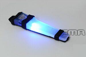 WorldShopping4U Casque Sécurité LED VLA V-Lite Sac E-Lite stroboscopique lumière (Bleu, Vert, Rouge) Lampe de Poche Noir Base pour Tactique Airsoft extérieur Chasse Camping