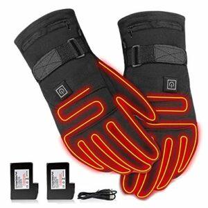 WSDSX Gants de Cyclisme imperméables Chauffant Gants de vélo de Route de Montagne Chaud Batterie électrique Rechargeable Gants de Ski Chauffants