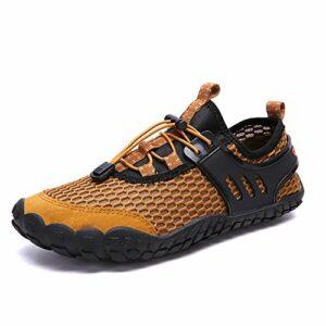 wyhweilong Chaussures Nautiques pour Hommes Barefoot à séchage Rapide pour Piscine Beach River Traçage Escalade Surf Aqua Sports 39-46 EU