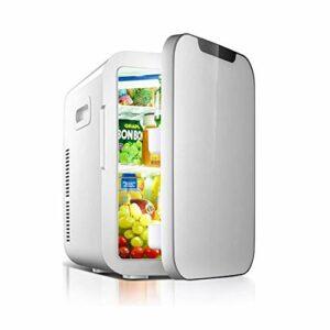 ZMJY Petit réfrigérateur de Voiture, Mini réfrigérateur de dortoir 20L de Famille portatif de Camping/extérieur/réfrigérateur Simple de réfrigérateur de Porte de réfrigérateur de Voiture,Gray,18L