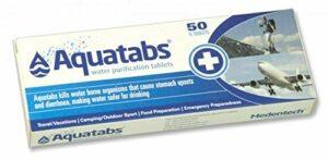 Albainox 33430 Lot de 50 pastilles de purification pour eau d'urgence, randonnée, chasse, camping, camping, survie et Bushcraft
