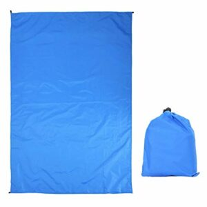 avec sac de transport étanche tente de bâche empreinte anti-usure en plein air Portable pour Camping pique-nique pour voyager pour randonnée trekking(Royal Blue 100*145 without accessories)