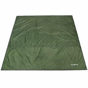 Azarxis Tarp Ultra Léger Tapis de Sol Bâche de Camping Parasol Couverture Abri Auvent Imperméable pour Tente Hamac Pique-nique Randonnée Plage (Vert, S – 150 x 220 cm)