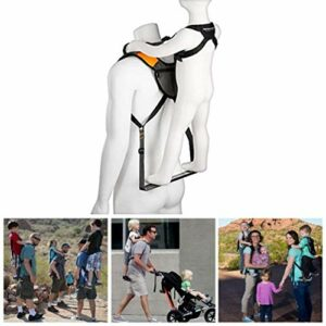 Beirich Sac à dos de transport pour enfant avec dossier pliable, multifonctionnel, poussette réglable pour extérieur, voyage, camping