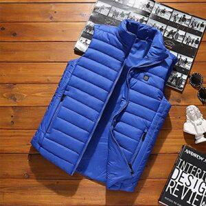 Chauffée électrique Gilet infrarouge, la température de chauffage constante Intelligent Gilet, USB rechargeable hommes Veste thermique, Vêtements chauds d'hiver for le camping, escalade en plein air