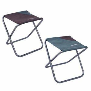 Chenbz 2pcs Portable Chaise d'extérieur Camping pêche Siège d'extérieur Siège train Chaise Voyage Sports de plein air de repos outil