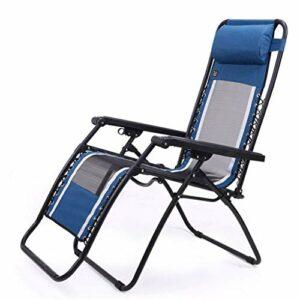 Chenbz Chaises de plage Chaises pliantes Reclining camping avec repose-pieds Voyage extérieur Pêche Salon Chaise métal Siège portable Chaise, Tenir 210 kg