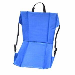 Chenbz Siège pliant portable avec chaise support réglable for l'extérieur Stade Dossier Alpinisme Canoë Plage Camping, Bleu