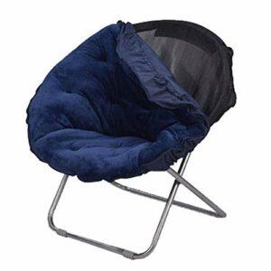 Chenbz Ultraléger étendue Portable Pliable Lune Loisirs Chaise de camping en plein air Travaux Camping Randonnée Chasse Pêche Voyage Divans