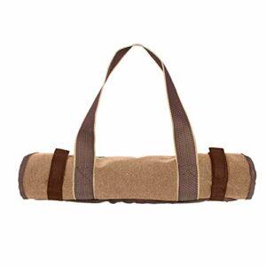 chenxiaspindes Sac de transport pour bûches de cheminée, sac de rangement pour cheminée, camping, trekking, pique-nique – Kaki