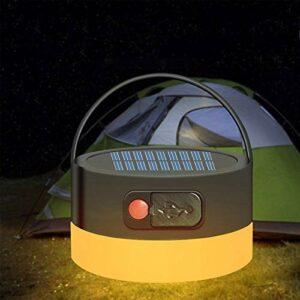 fgf GFRYY Lampe Solaire Portative De Lanterne De Camping, Lampe De Tente LED Rechargeable par USB, Lampe De Poche Multifonctionnelle étanche pour La Randonnée, La Pêche, L'extérieur, Les Voyages