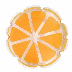FOKH Coussin Gonflable, Tapis Gonflable de Tapis de Jeu, Camping Rond portatif de randonnée de siège pour la Chaise de Bureau en Plein air(Orange)