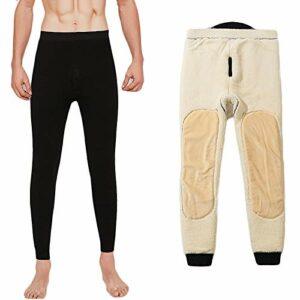 G&F Pantalon Thermique Mens Leggings Pantalons Long Johns Hiver Baselayer sous-vêtements Camping Ski Wear (Color : Black, Size : 4XL)