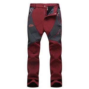 GITVIENAR Femme Pantalon Étanche Pantalons Hydrofuge Coupe-Vent à Séchage Rapide pour Camping et Randonnée Pêche Escalade en Plein Air Épaississement de la Chaleur