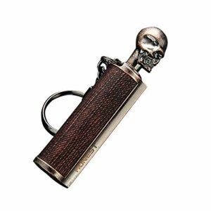 GPURE Allume-feu permanent en métal avec pierre à feu et allume-feu rechargeable au kérosène – Kit d'urgence étanche pour camping, randonnée