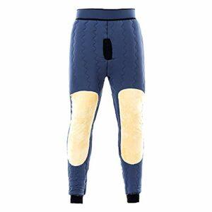 haoyue Hommes Pantalons Thermiques Caleçon Leggings Bas sous-vêtements Première Couche Camping Vêtements Ski (Color : Gray, Size : 3XL)
