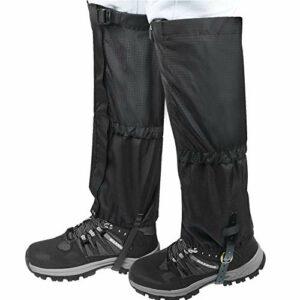 JTENG Guêtres d'extérieur imperméables et réglables – Respirantes – Pour pantalon d'extérieur – Pour la randonnée, l'escalade, le trekking, la randonnée à neige et la chasse – 1 paire (L)