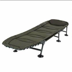 Lit de Camping de Voyage Lit Pliant Portable Bureau Nap Lit Durable for la randonnée Camping Chasse Voyage Urgences intérieur (Gris) (Color : Green, Size : 185X63X30CM)