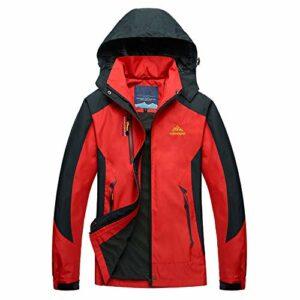 LUI SUI Femmes coupe-vent léger veste imperméable extérieur capuche détachable imperméable Camping marche manteau