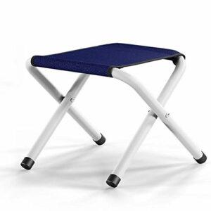Magasin d'été Tabouret Pliant Portable pour la pêche d'escalade de Camping, Chaise de Jardin (Color : Navy Blue Without Cotton Pad)