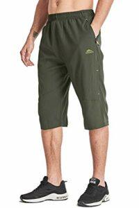 MAGCOMSEN Pantalon d'été léger 3/4 pour extérieur, chasse, escalade, vert